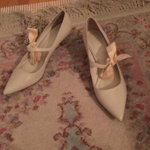 Tory Burch kitten heels with bow